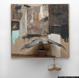 Robert Rauschenberg. Canyon. 1959. © 2012 Museum of Modern Art. Photo by John Wronn.