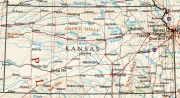 Kansas Map - Perry Castenada Map Collection, University of Texas