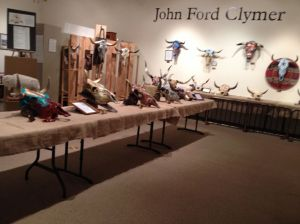 The Clymer Museum in Ellensburg featured an exhibit of decorated cattle skulls to be auctioned at the upcoming rodeo.
