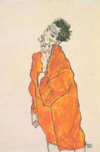 800px-Egon_Schiele_-_Selbstbildnis_in_oranger_Jacke_-_1913
