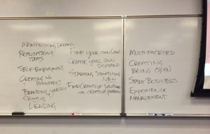 Student-generated ideas about arts entrepreneurial action