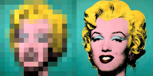 marilyn pixelated